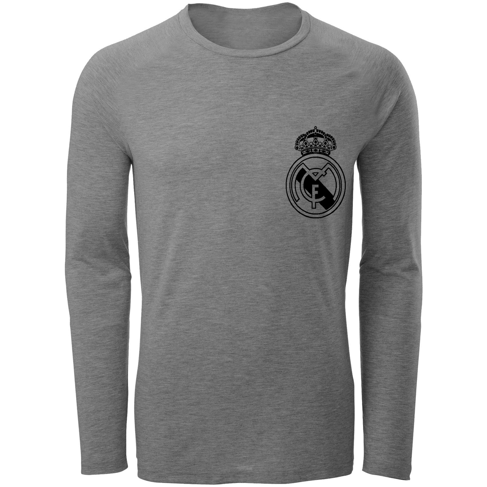 تی شرت آستین بلند مردانه طرح رئال مادرید مدل S36