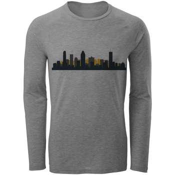 تی شرت آستین بلند مردانه طرح شهر مدل S41