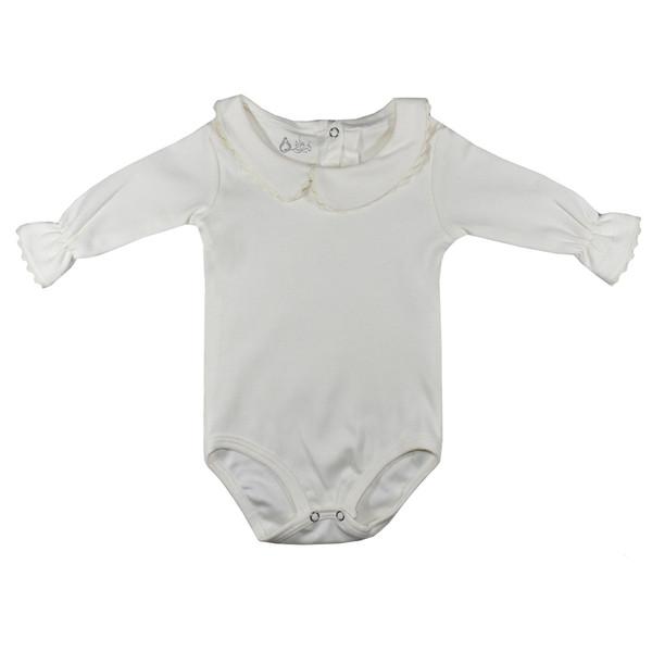 بادی آستین بلند نوزادی دخترانه نیروان کد 32 - 3