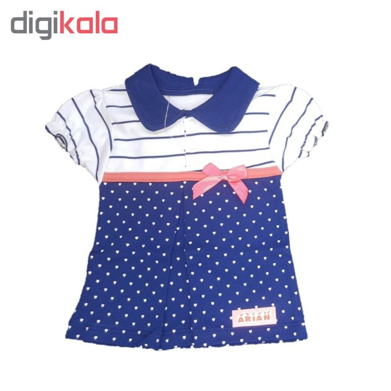 ست تی شرت و شلوار نوزادی دخترانه طرح پاپیون کد t77285493 1-41