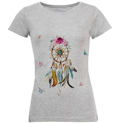 تی شرت آستین کوتاه زنانه طرح دریم کچر مدل S145