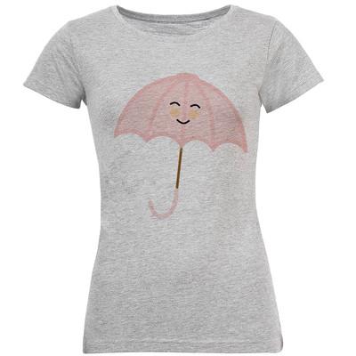 تی شرت آستین کوتاه زنانه طرح چتر مدل S157