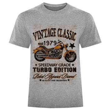 تی شرت مردانه طرح موتور کلاسیک کد S136