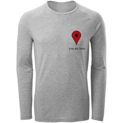 Photo of تی شرت آستین بلند مردانه طرح you are here کد S286