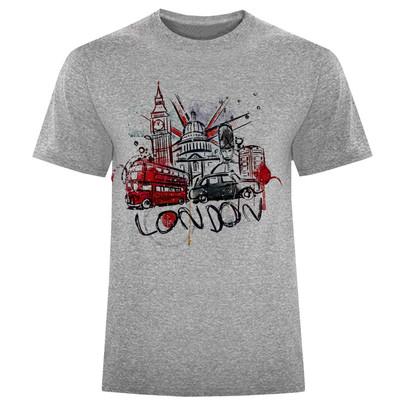 تصویر تی شرت مردانه طرح لندن کد S166