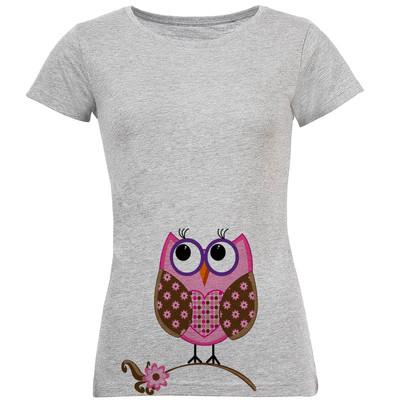 تی شرت آستین کوتاه زنانه طرح جغد مدل S258