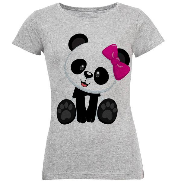 تی شرت آستین کوتاه زنانه طرح پاندا مدل S268