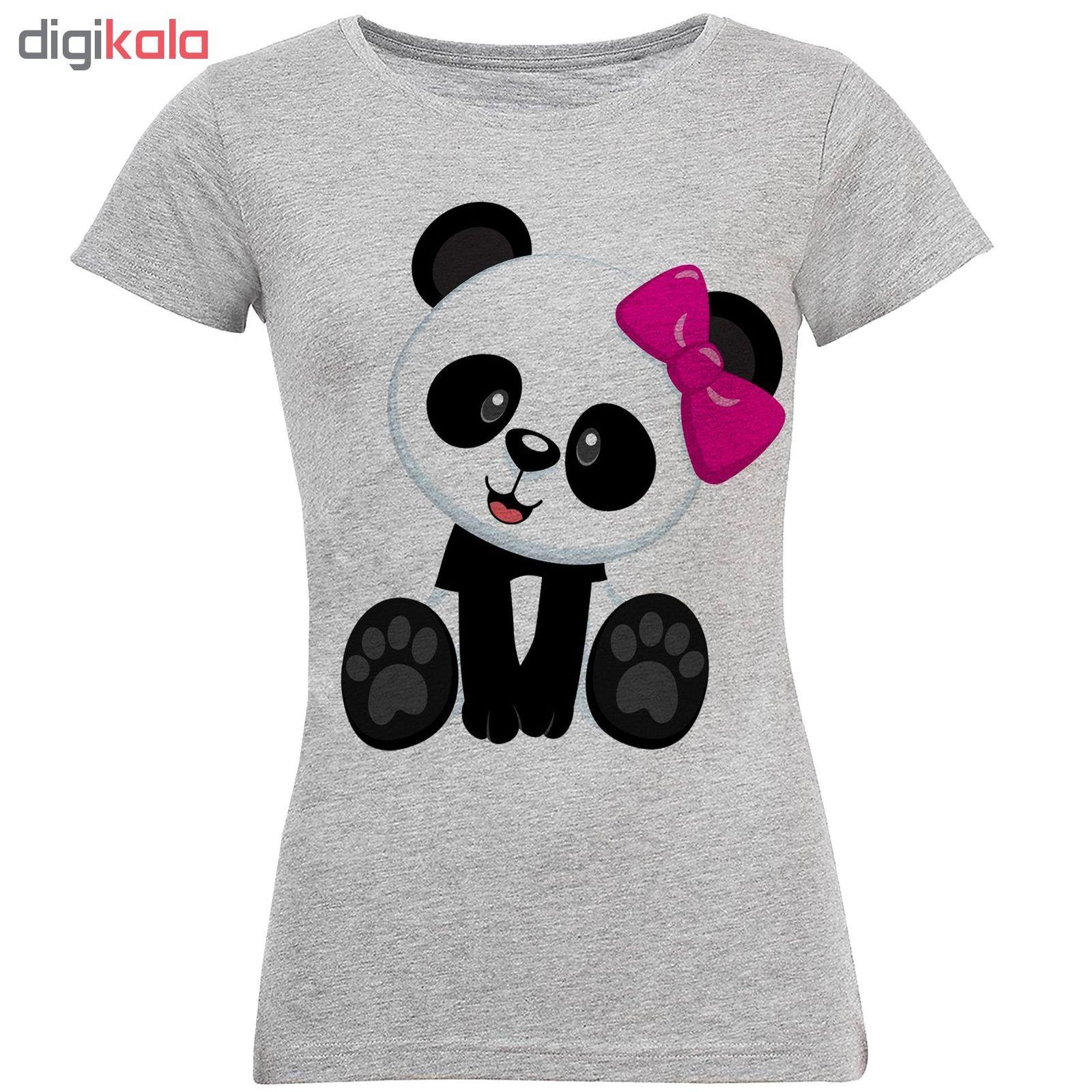 تی شرت آستین کوتاه زنانه طرح پاندا مدل S268 main 1 1