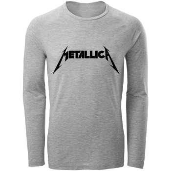 تی شرت آستین بلند مردانه طرح metallica کد S282