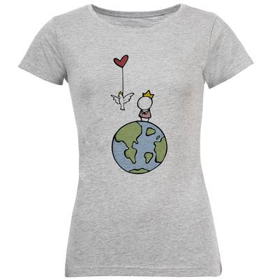 تی شرت آستین کوتاه زنانه طرح شازده کوچولو مدل S243