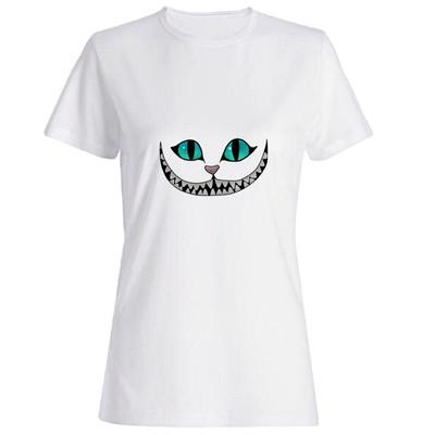 تصویر تیشرت زنانه طرح گربه کد 4693