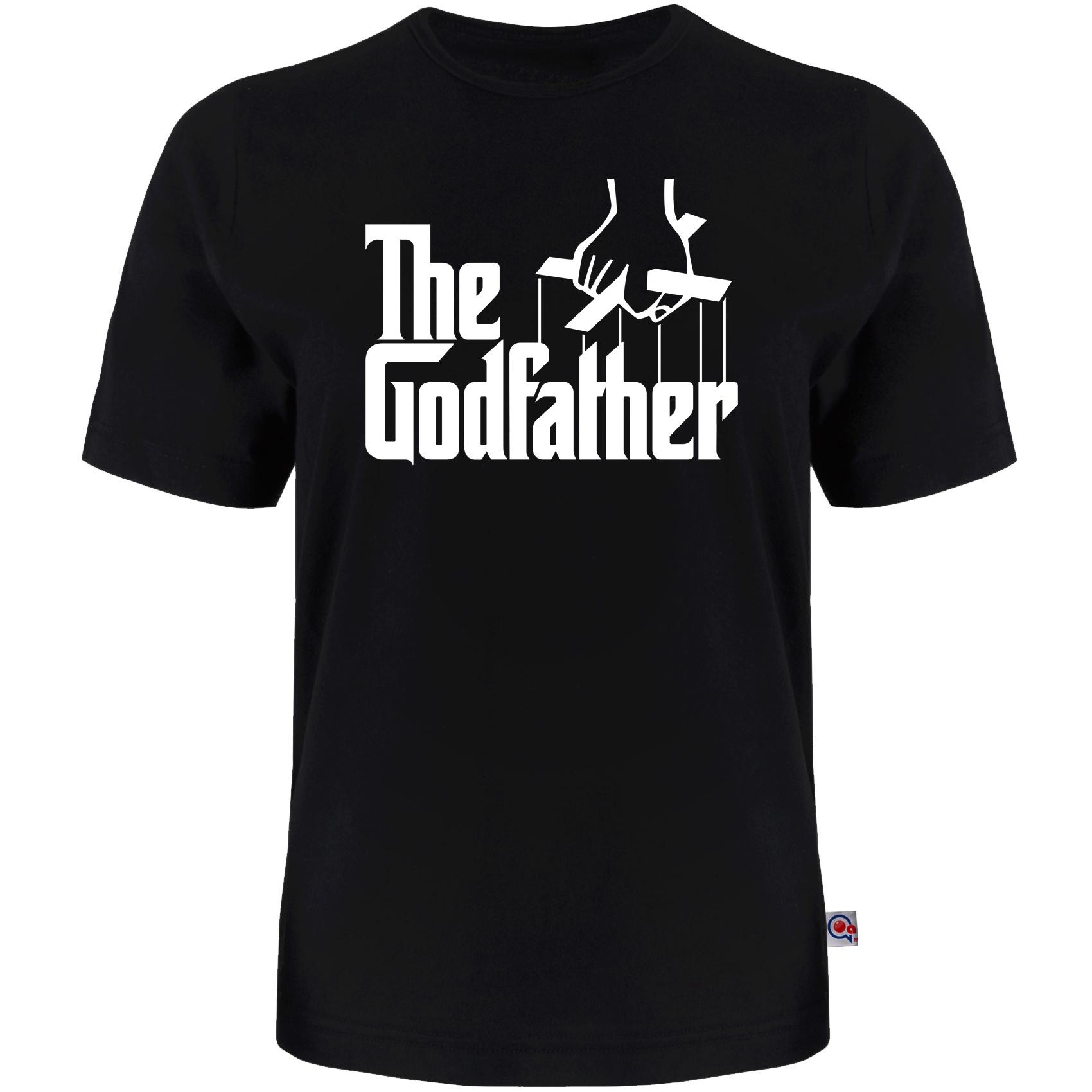 تی شرت آستین کوتاه مردانه آکو طرح GOD FATHER کد 36