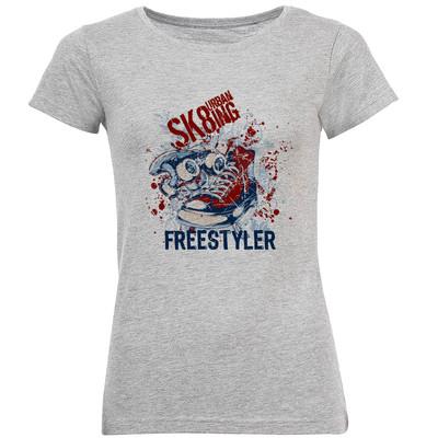تی شرت آستین کوتاه زنانه طرح کتونی مدل S377