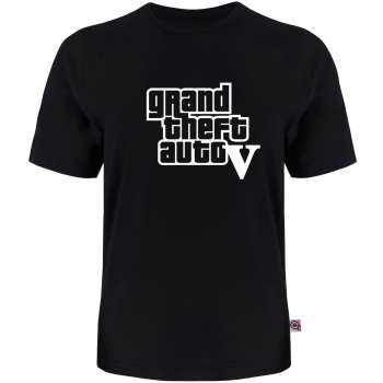 تی شرت آستین کوتاه مردانه آکو طرح GTA-V کد AL27
