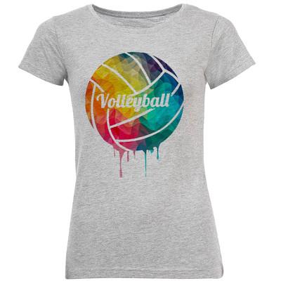 تی شرت آستین کوتاه زنانه طرح والیبال مدل A329