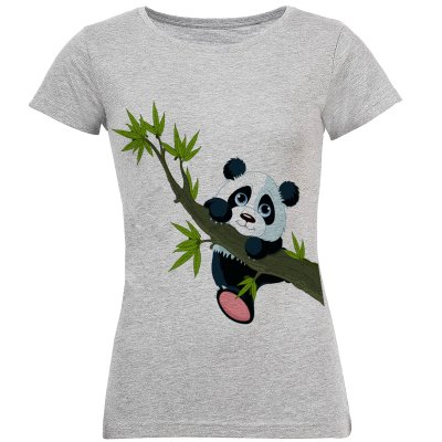 Photo of تی شرت آستین کوتاه زنانه طرح پاندا مدل S256