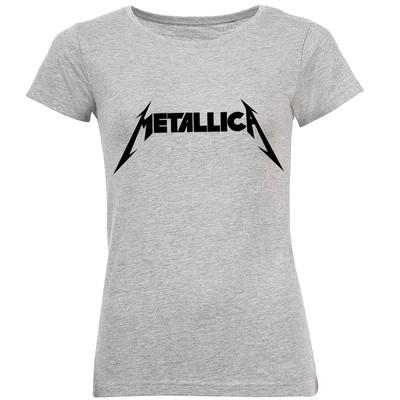 تصویر تی شرت آستین کوتاه زنانه طرح Metallica مدل S364