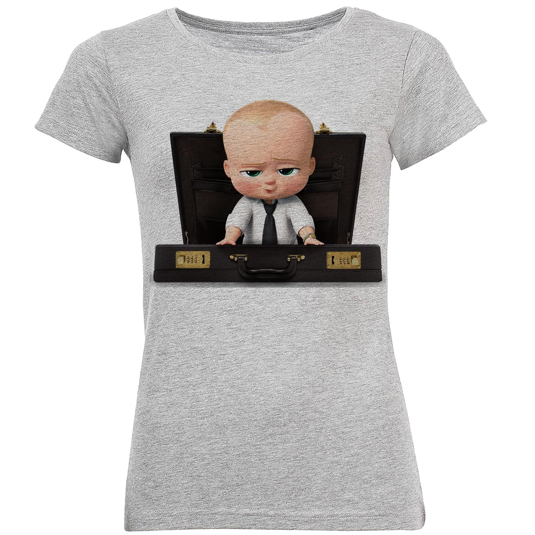 تی شرت آستین کوتاه زنانه طرح بچه رئیس