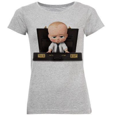 تی شرت آستین کوتاه زنانه طرح بچه رئیس مدل S368