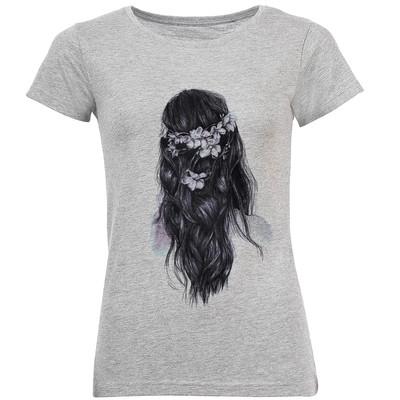 تی شرت آستین کوتاه زنانه طرح دختر مدل A331