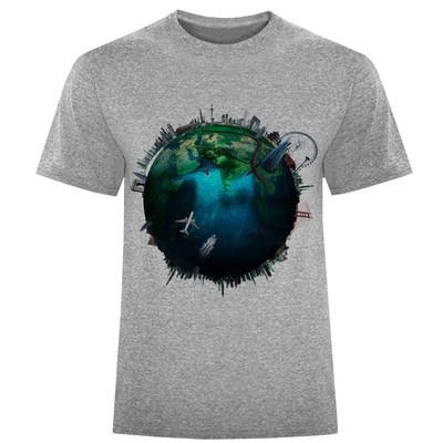 Photo of تی شرت مردانه طرح کره زمین کد S207