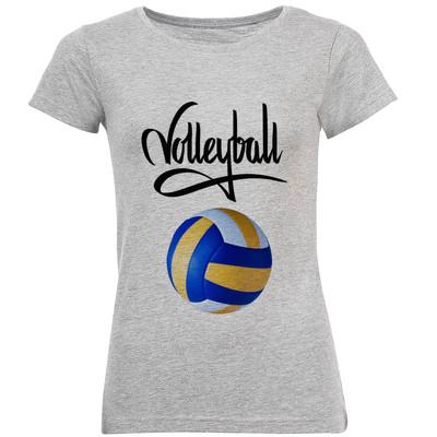 تصویر تی شرت آستین کوتاه زنانه طرح والیبال مدل S345