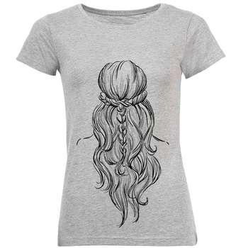 تی شرت آستین کوتاه زنانه طرح Hair مدل S400