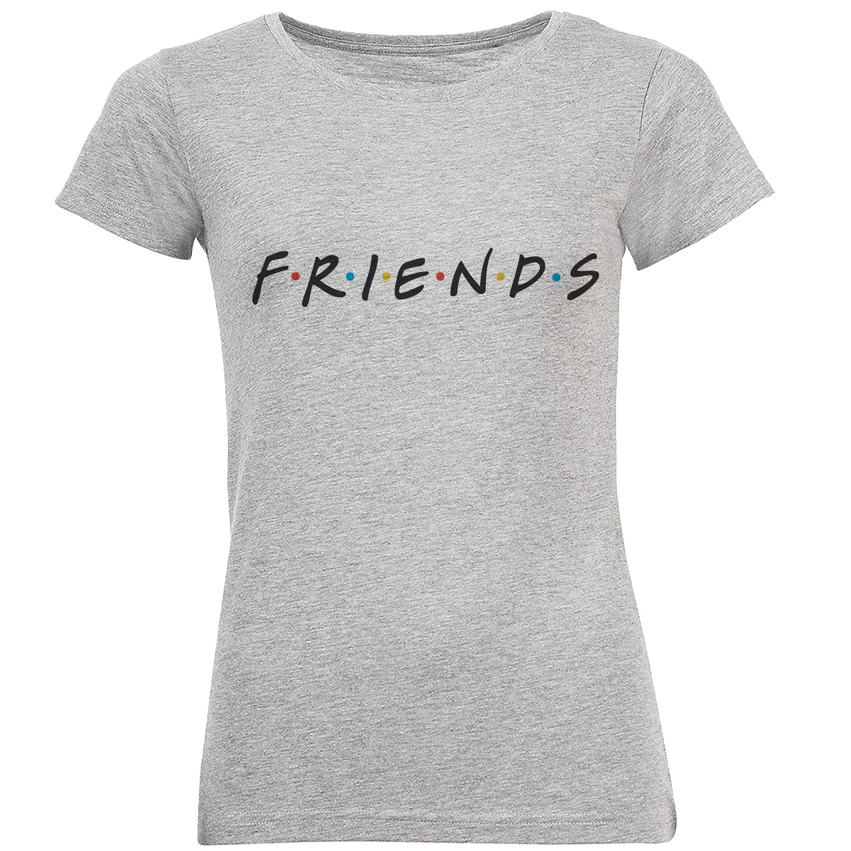 تی شرت آستین کوتاه زنانه طرح دوست مدل S344