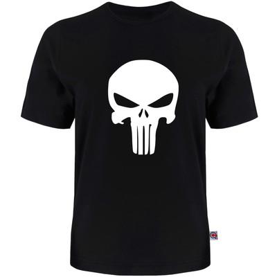 تصویر تی شرت آستین کوتاه مردانه آکو طرح Skull کد AL35