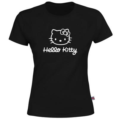 تصویر تی شرت آستین کوتاه زنانه آکو طرح Kitty کد AL11