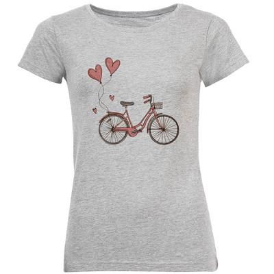 تی شرت آستین کوتاه زنانه طرح دوچرخه مدل S374