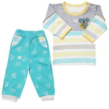 ست تی شرت و شلوار نوزادی پسرانه طرح کوالا کد 001