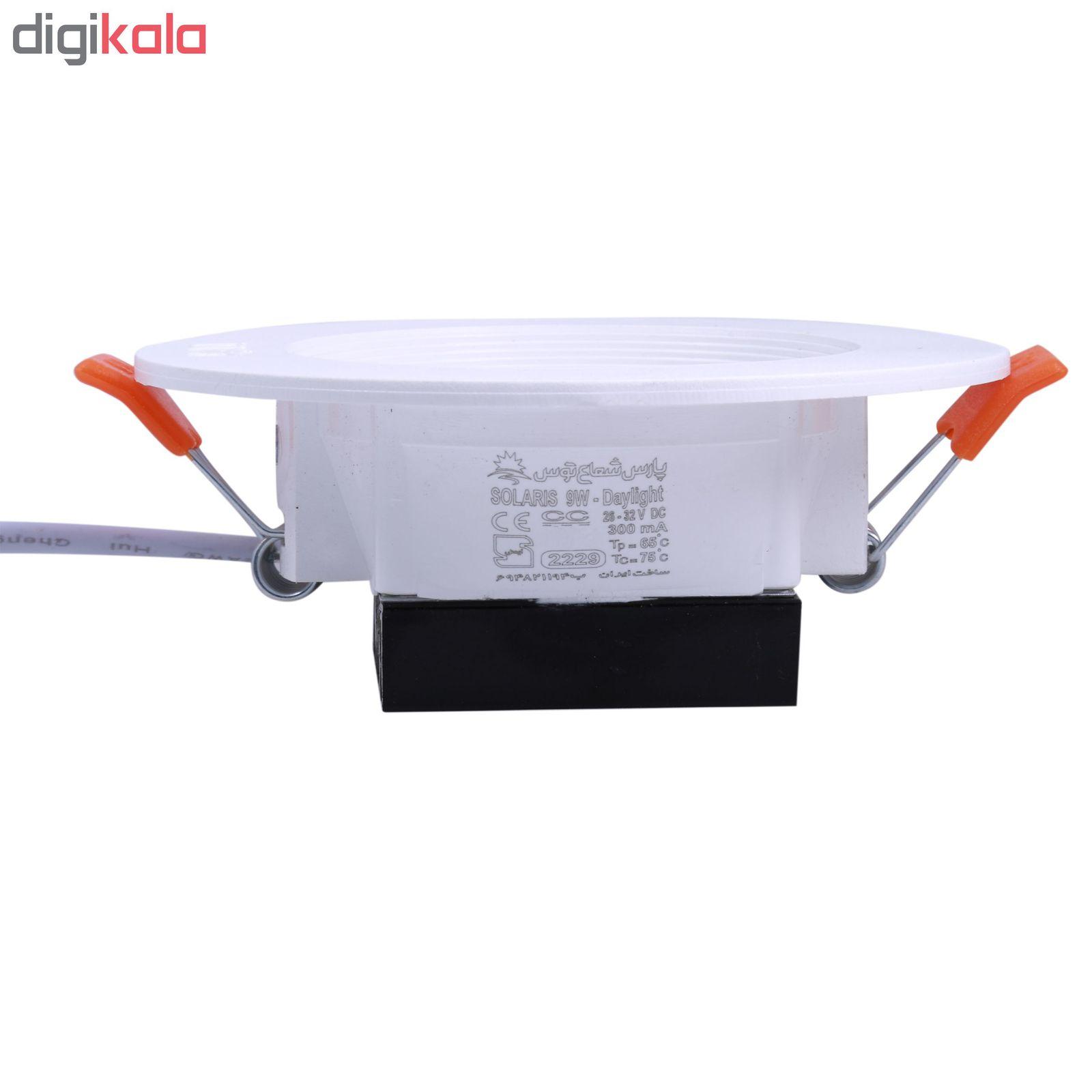 پنل ال ای دی 9 وات پارس شعاع توس مدل PT-SOL9 بسته 5عددی main 1 3