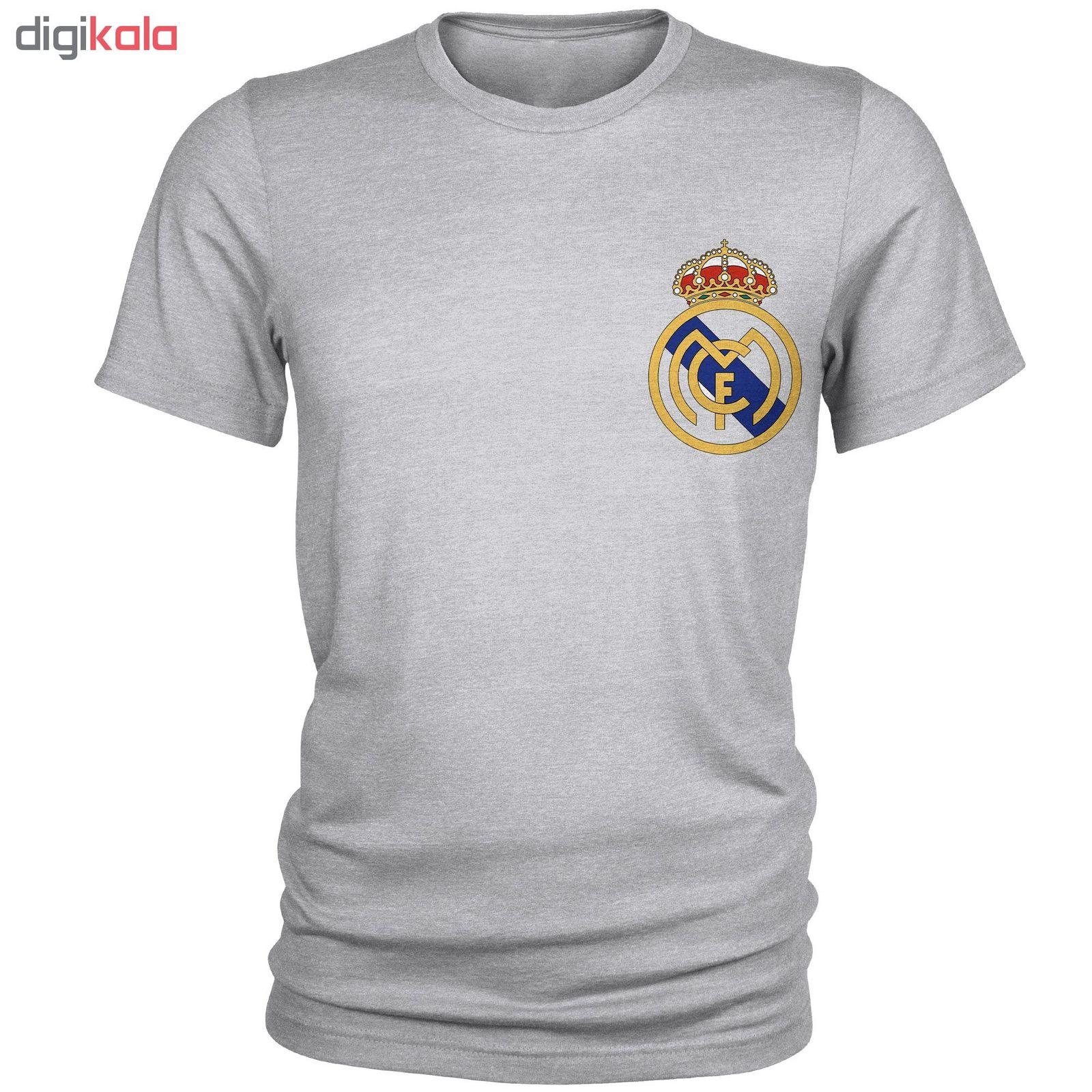 تی شرت مردانه طرح رئال مادرید کد S666 main 1 1