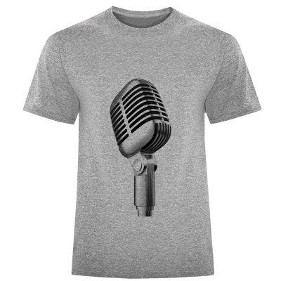 تصویر تی شرت مردانه طرح میکروفن کد S256