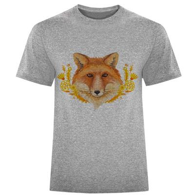 تصویر تی شرت مردانه طرح روباه کد S261