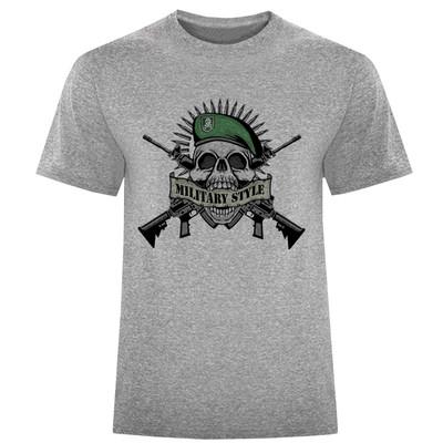 تصویر تی شرت مردانه طرح اسکلت کد S250