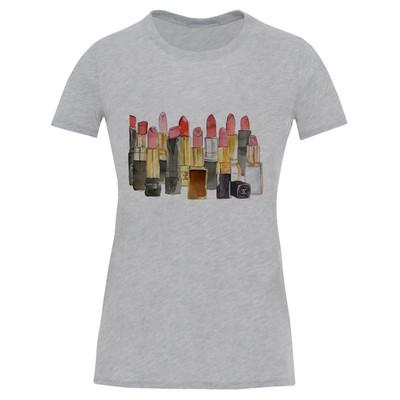 تصویر تی شرت آستین کوتاه زنانه طرح ماتیک کد S505