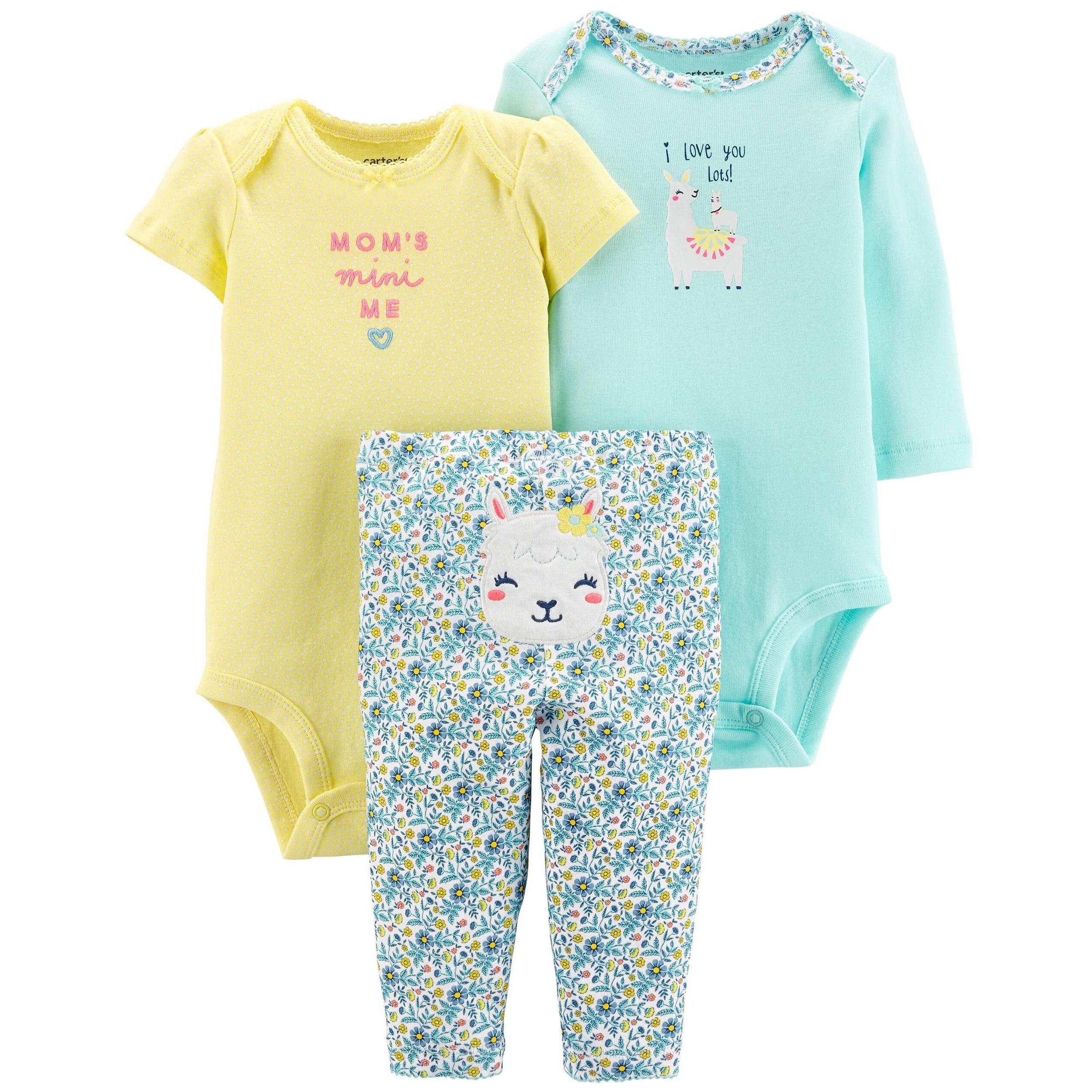 ست 3 تکه لباس نوزادی دخترانه کارترز کد 1017