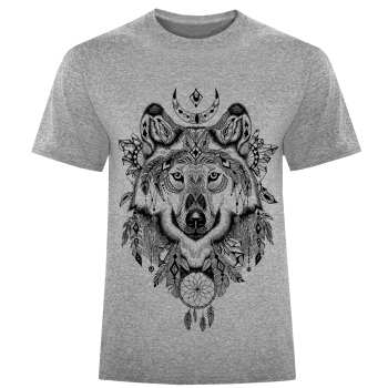 تی شرت مردانه طرح wolf کد S246