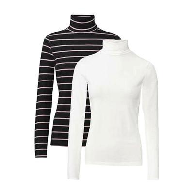 تصویر تی شرت آستین بلند زنانه اسمارا کد 144 مجموعه 2 عددی