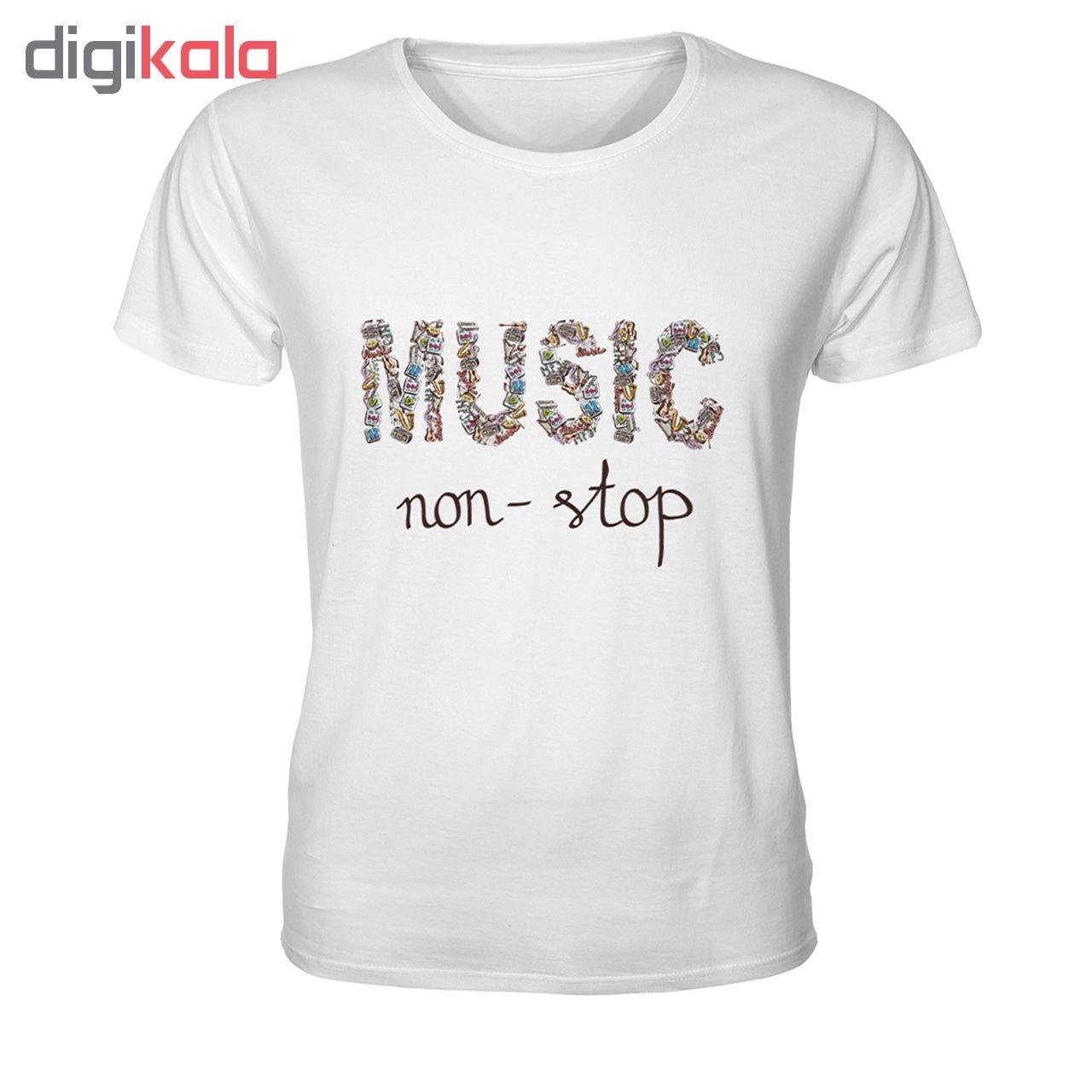 تی شرت مردانه طرح موزیک بدون توقف کد TMBF3046