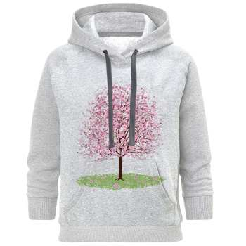 هودی زنانه طرح درخت کد S82