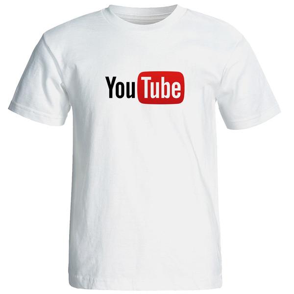 تیشرت آستین کوتاه مردانه طرح یوتیوب کد 9300