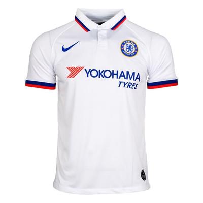 تصویر پولو شرت ورزشی مردانه طرح چلسی کد 20-away2019 رنگ سفید
