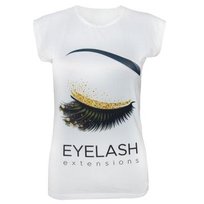تی شرت زنانه مدل Eyelash
