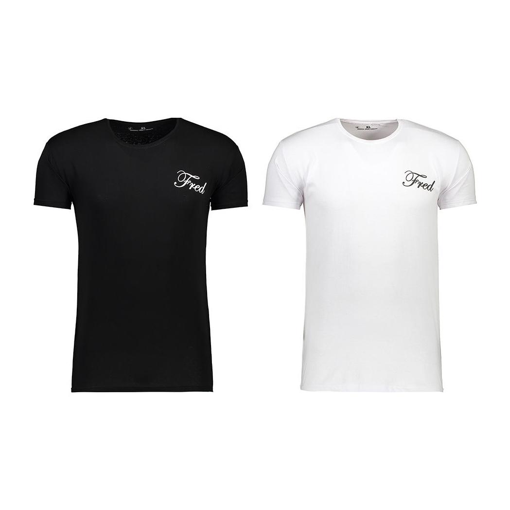 تی شرت مردانه فرد کد T.f.001 مجموعه دو عددی main 1 2
