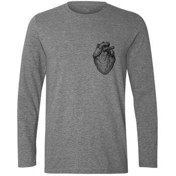 تیشرت آستین بلند مردانه طرح قلب کد S427