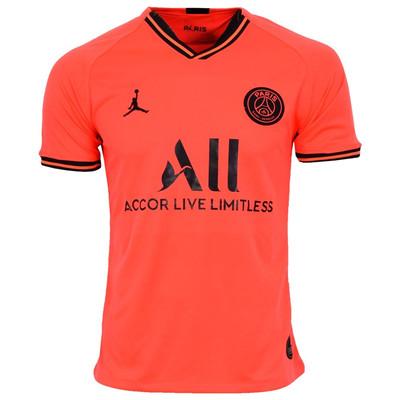 تصویر تیشرت ورزشی مردانه طرح پاریسن ژرمن کد 2019.20 away رنگ نارنجی