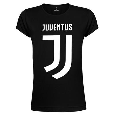 تی شرت زنانه ساروک طرح Juventus F.C رنگ مشکی